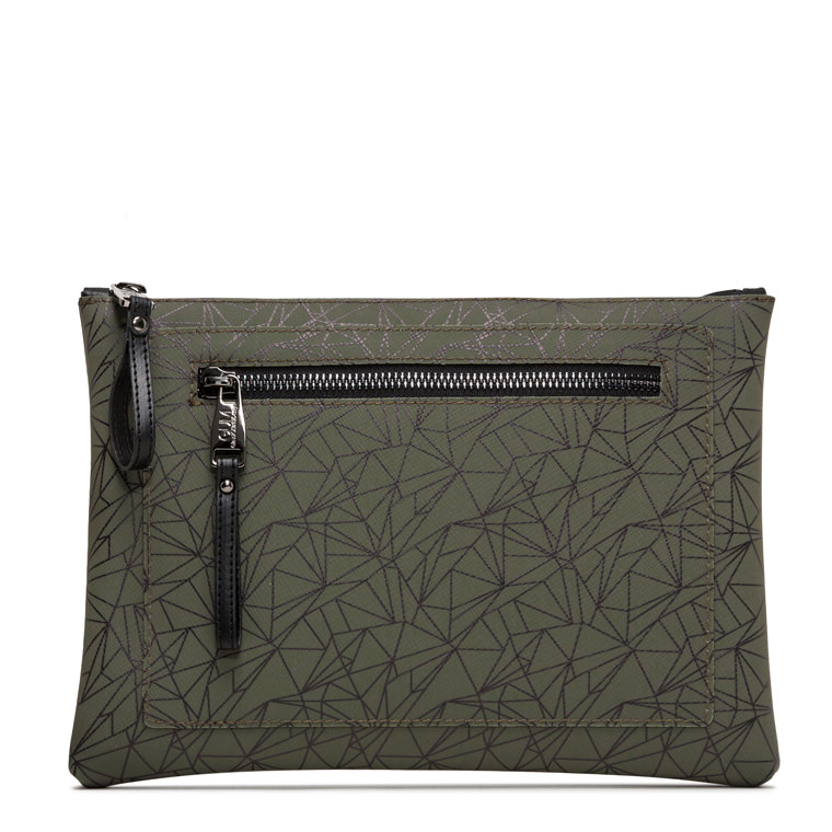GUM CRUSH PATTERN MAXI CLUTCH BAG