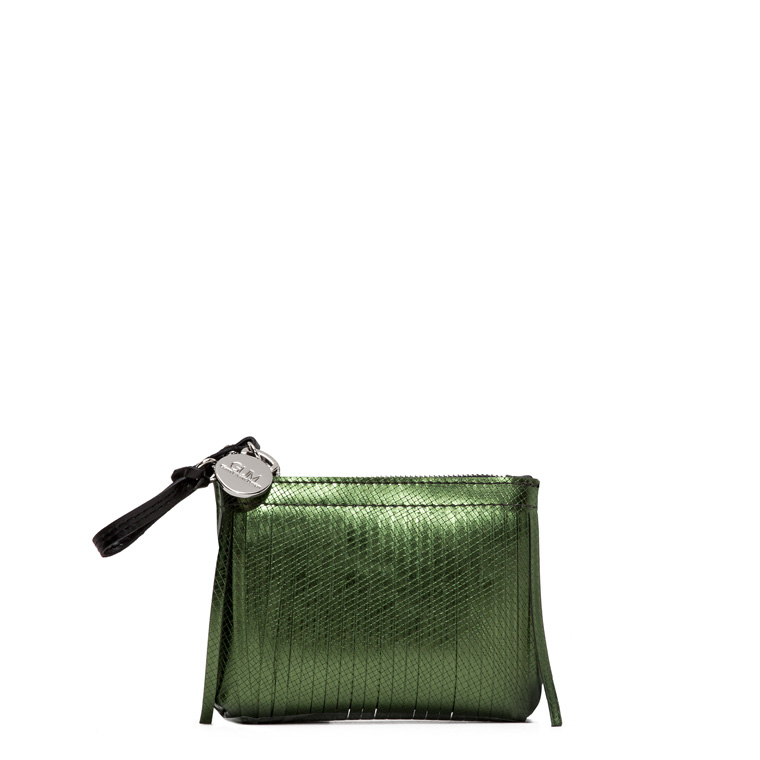GUM CLUTCH BAG KEYRING WITH FRINGES