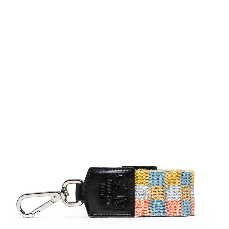 GUM FIXED-SIZE SHOULDER STRAP WITH CHECK PATTERN