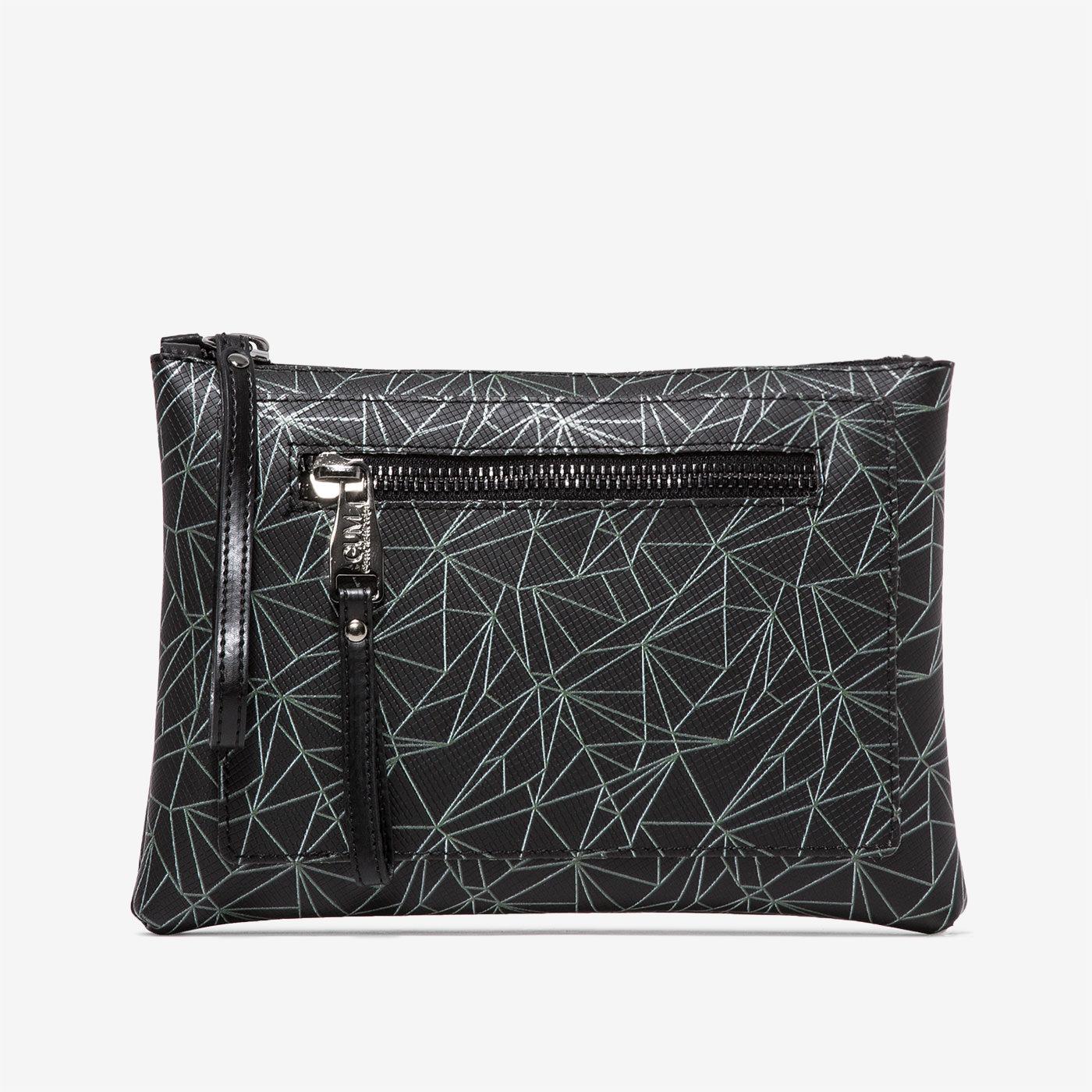 GUM: CRUSH PATTERN MIDI CLUTCH BAG