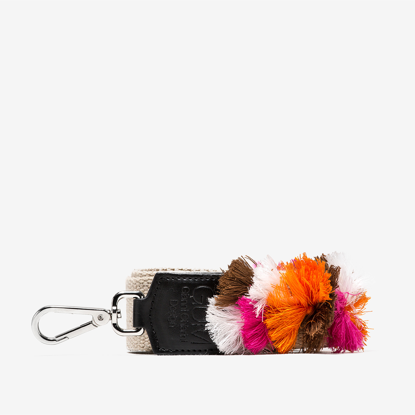 GUM: FIXED-SIZE SHOULDER STRAP WITH TASSELS