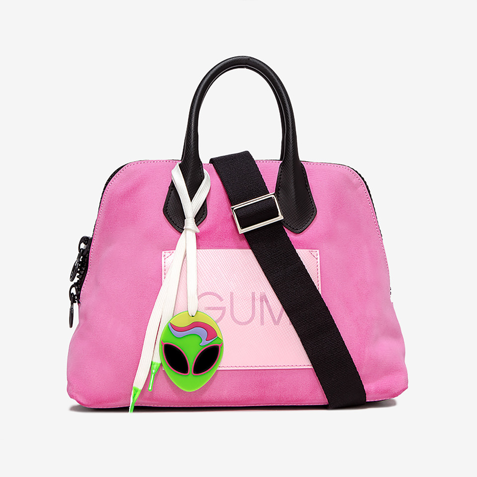 GUM: BORSA A MANO CANVAS MEDIA