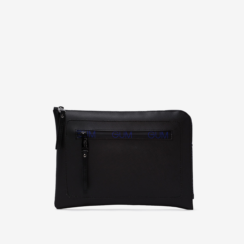 GUM: ZIP LOGO PATTERN MEDIUM SIZE CLUTCH