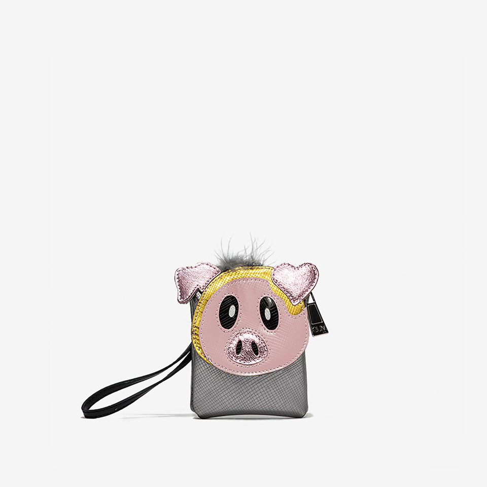 GUM: CLUTCH KEY RING WITH PIG