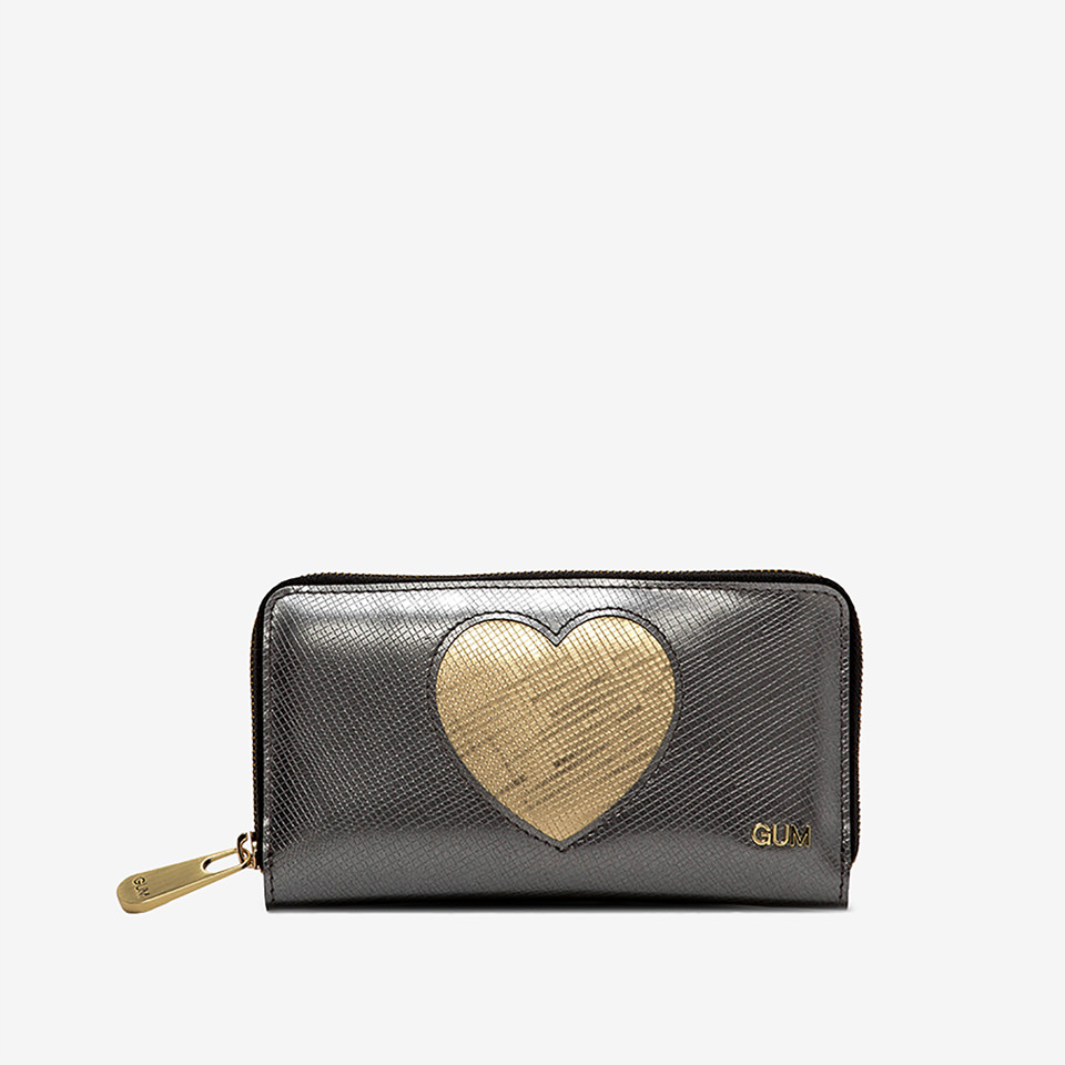 GUM: MEDIUM WALLET GLOSSY HEART