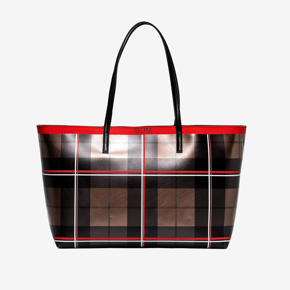 GUM: TARTAN SHOPPER BAG