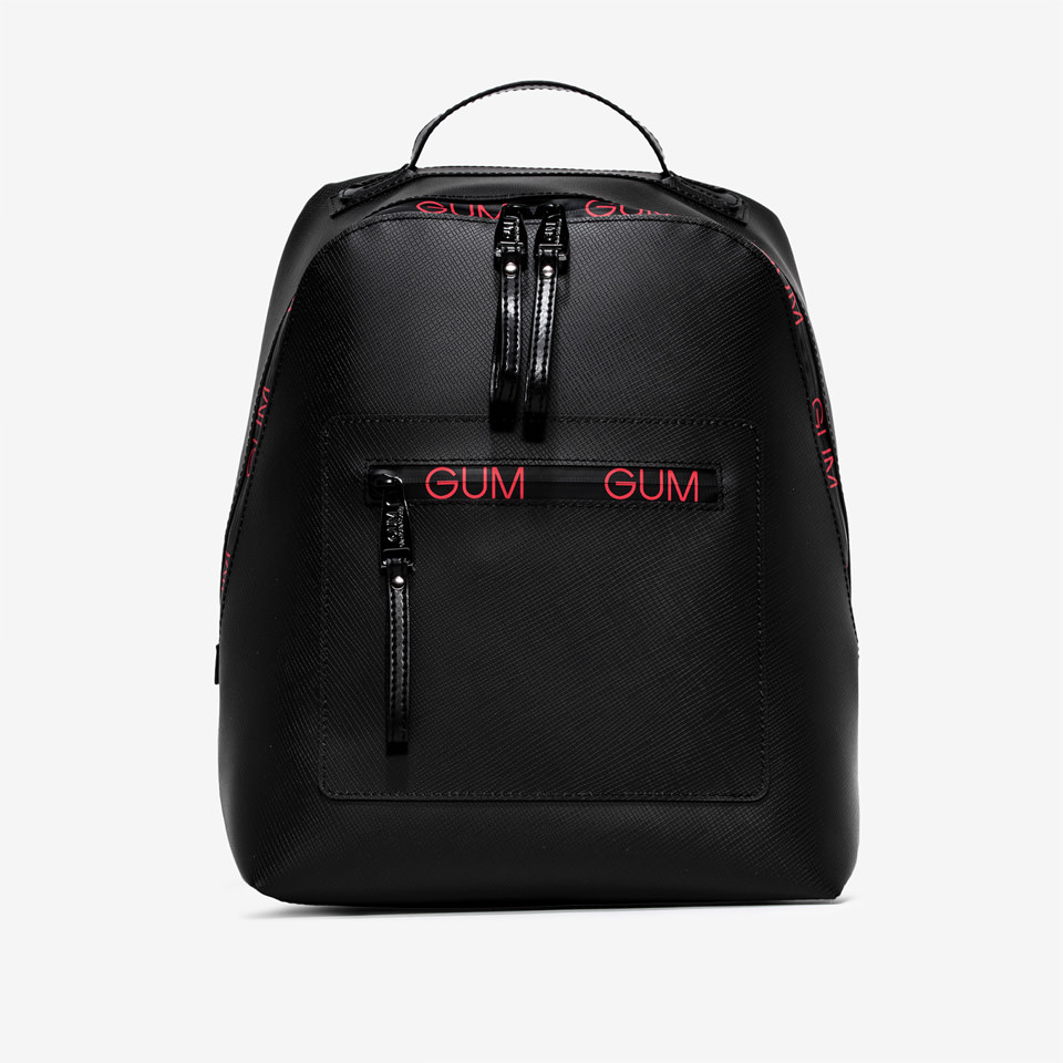 GUM: ZIP LOGO PATTERN BACKPACK