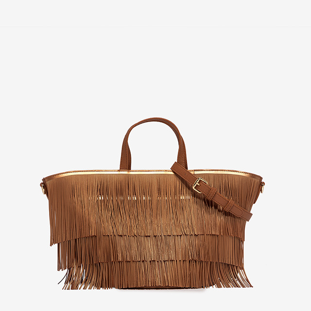 GUM MEDIUM SIZE FRINGE HAND BAG