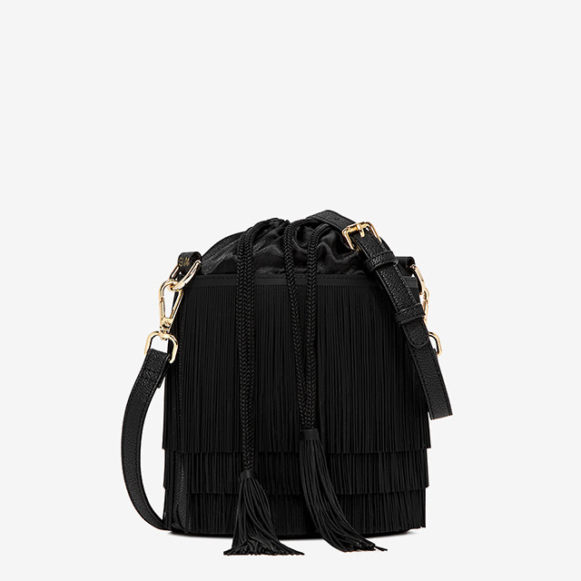 GUM MEDIUM SIZE FRINGE BUCKET BAG