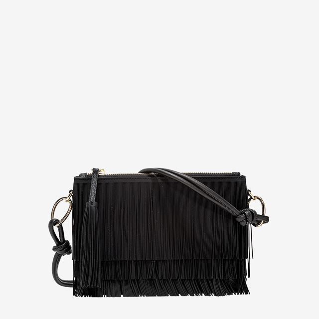 GUM MEDIUM SEIZE NUMBERS CLUTCH FRINGE