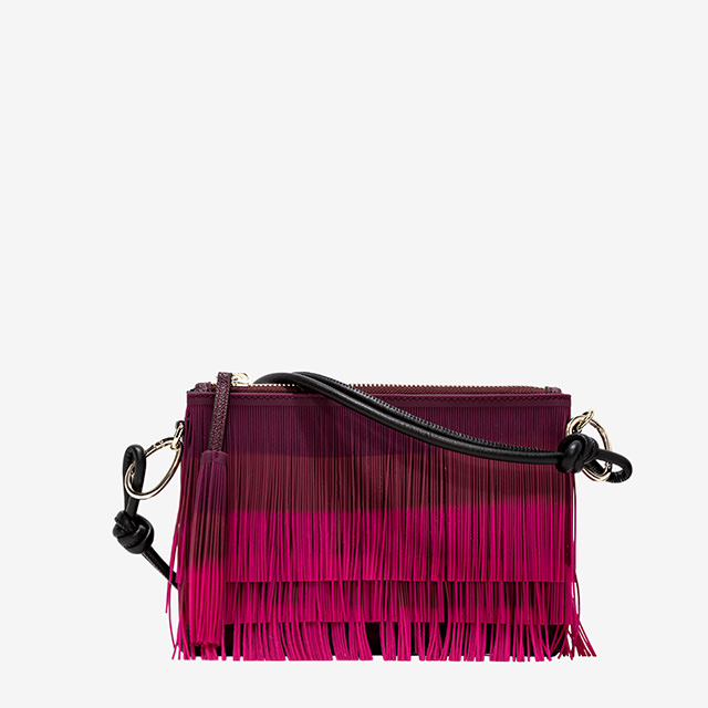 GUM: MEDIUM SEIZE NUMBERS CLUTCH FRINGE