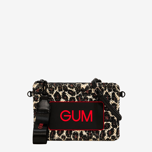 GUM MEDIUM POCHETTE LEOPARD PATTERN