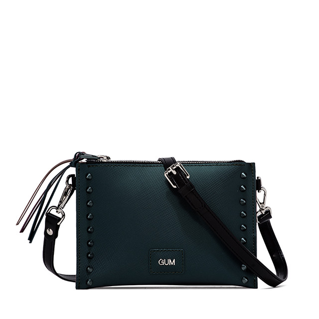 GUM: SATIN STUD MEDIUM HAND BAG