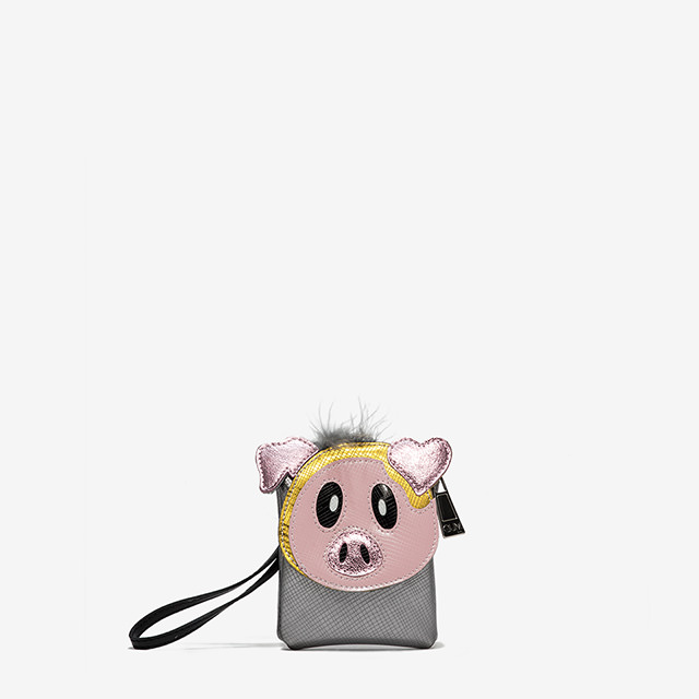 GUM CLUTCH KEY RING WITH PIG