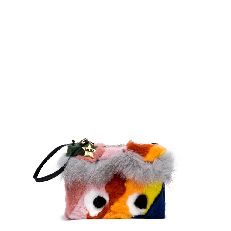 GUM CLUTCH KEYRING IN FUR