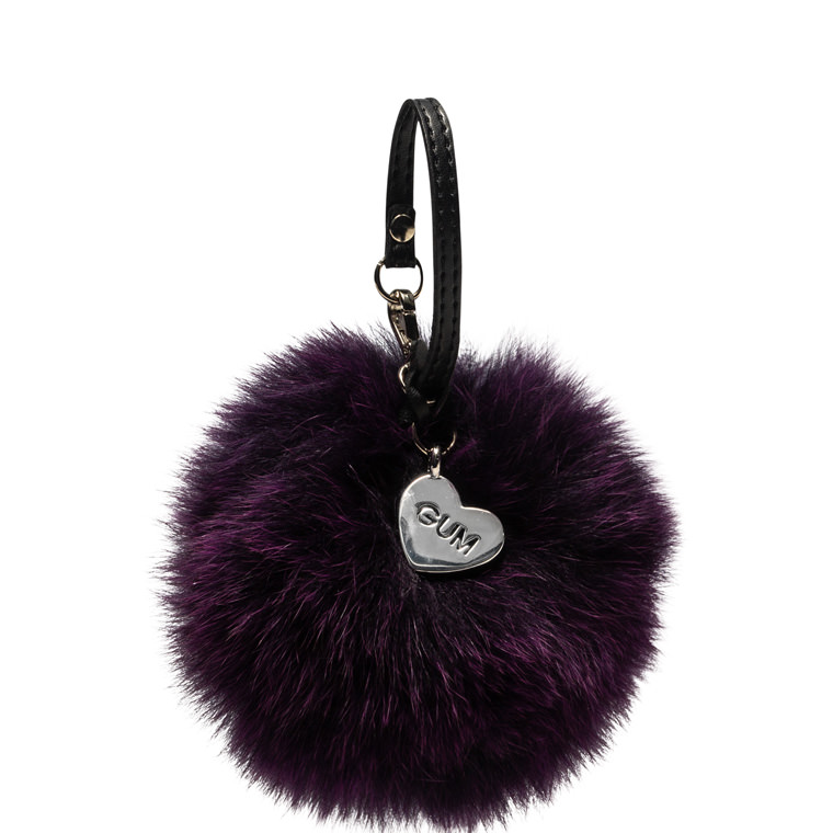 GUM POM POM KEY RING IN FUR