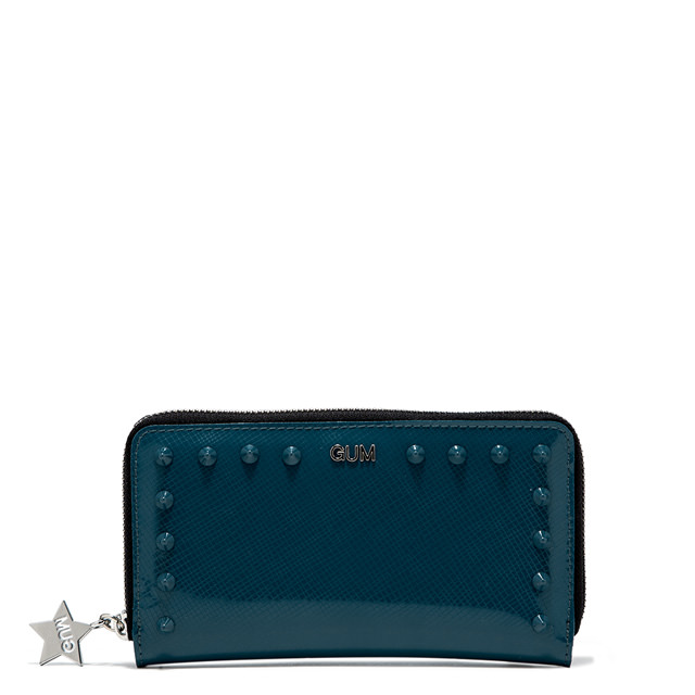 GUM LARGE WALLET GLOSSY STUDS