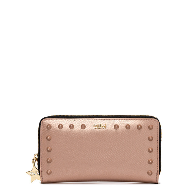 GUM LARGE SIZE SATIN STUD WALLET