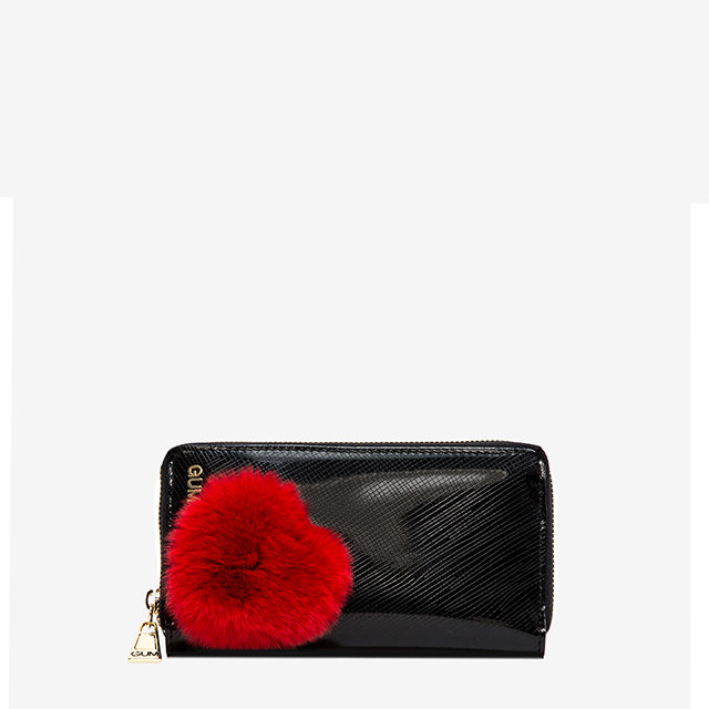 GUM MEDIUM WALLET FUR HEART
