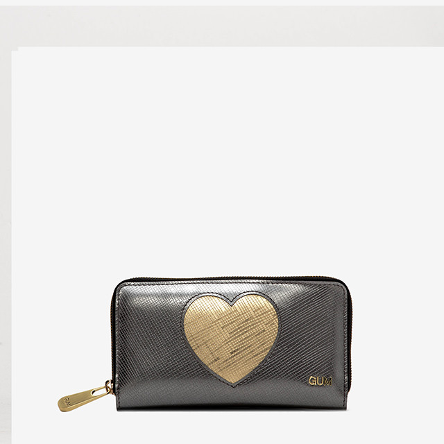 GUM MEDIUM WALLET GLOSSY HEART