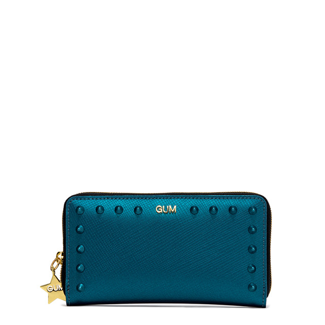 GUM MEDIUM SIZE SATIN STUD WALLET