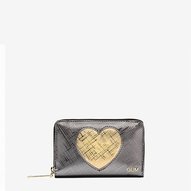 GUM SMALL WALLET GLOSSY HEART