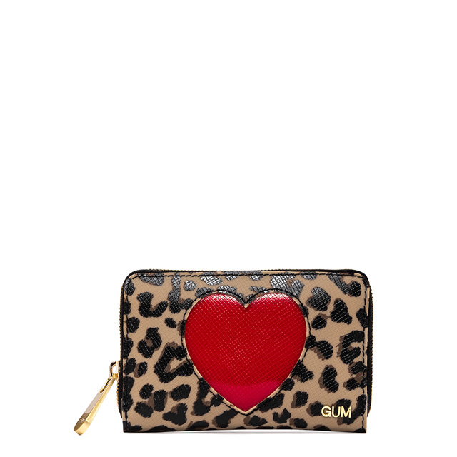 GUM SMALL SIZE GLOSSYHEART WALLET