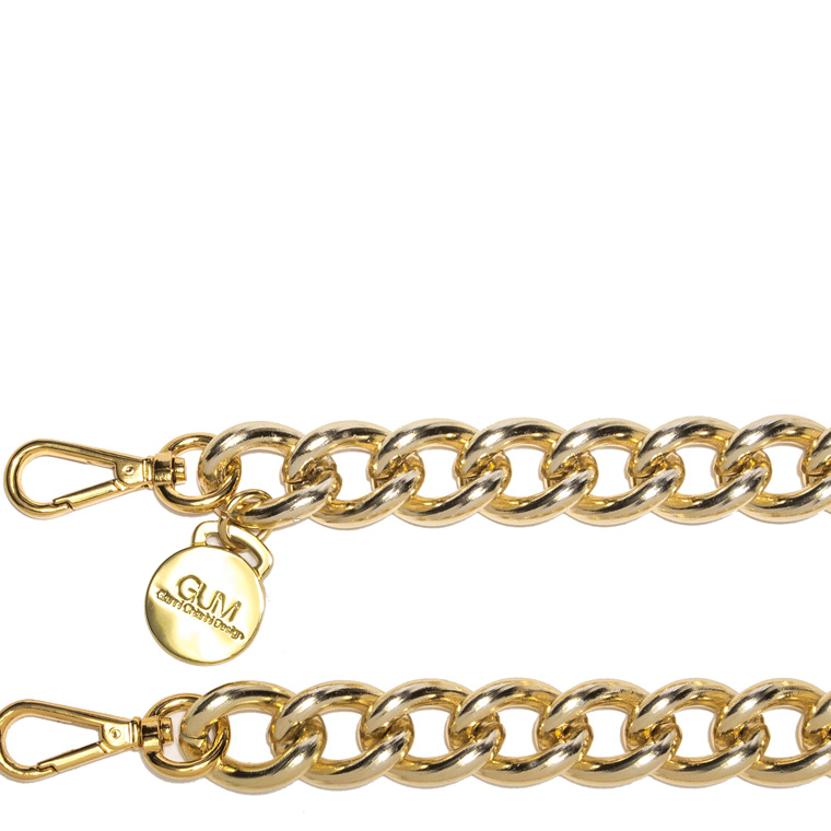 GUM GOLD TONE CHAIN SHOULDER STRAP
