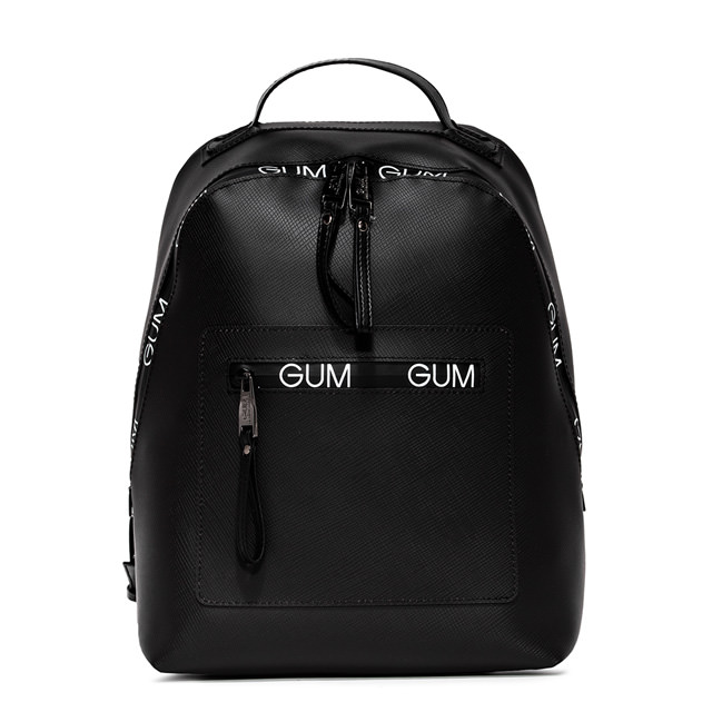 GUM ZIP LOGO PATTERN BACKPACK