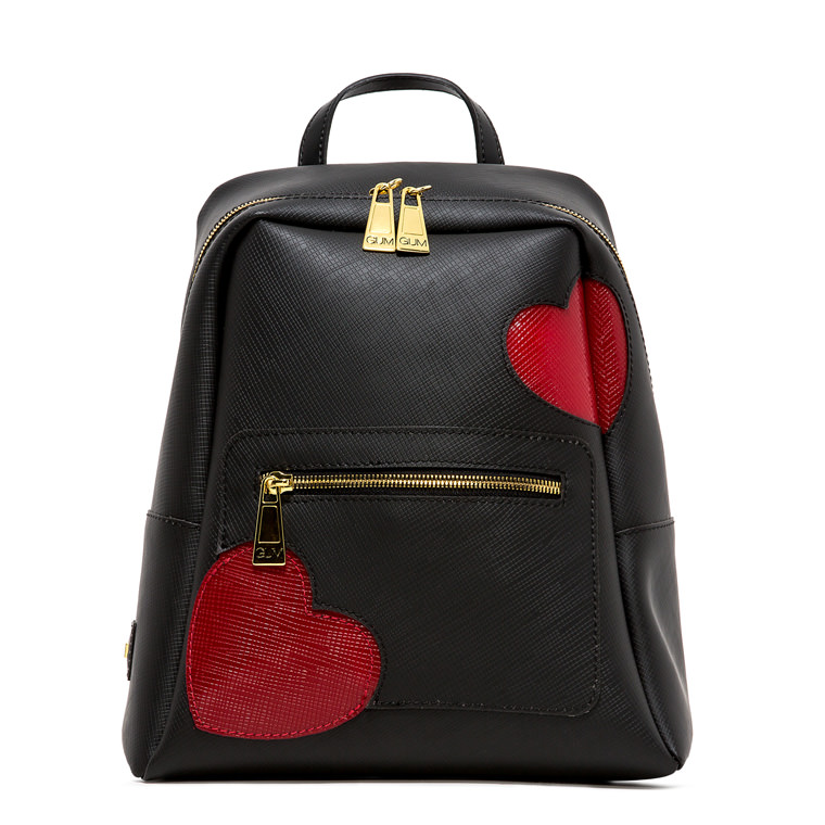 GUM GLOSSY HEART PATTERN NINE BACKPACK