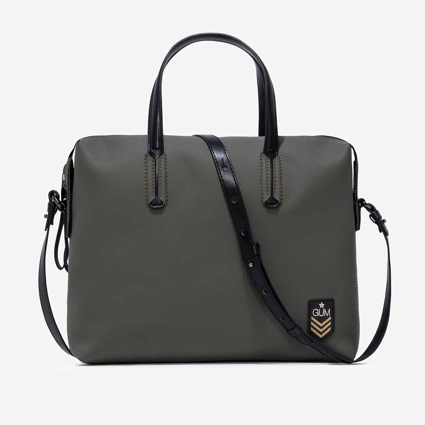 GUM: MILITARY PATTERN BUSINESS BAG